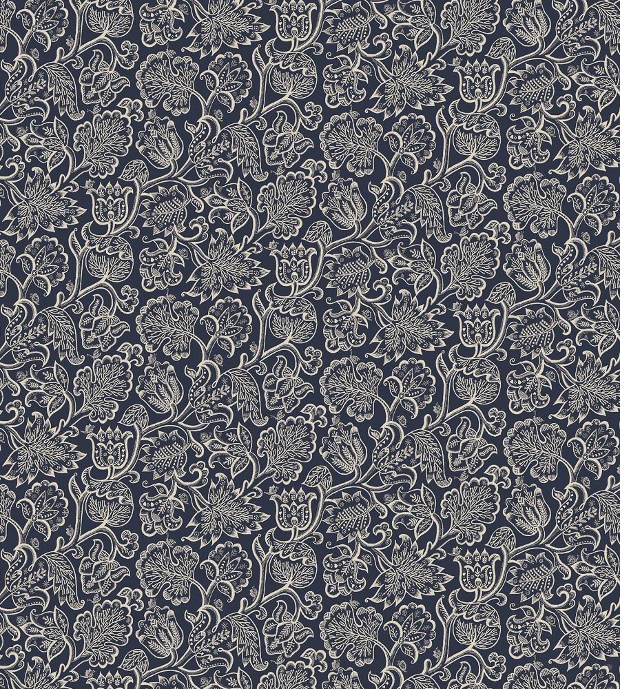 Blendworth Jacobean Mystic Navy textil - Paisley Home
