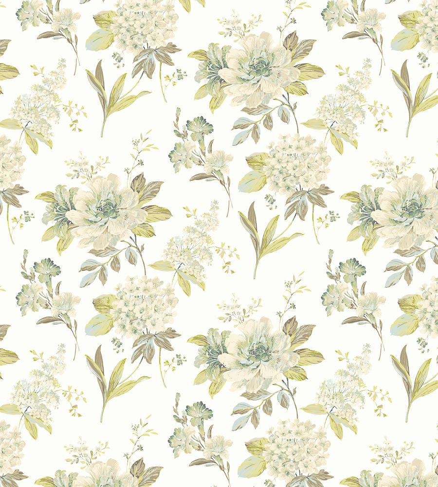 Blendworth Melody Green (001) textil - Paisley Home