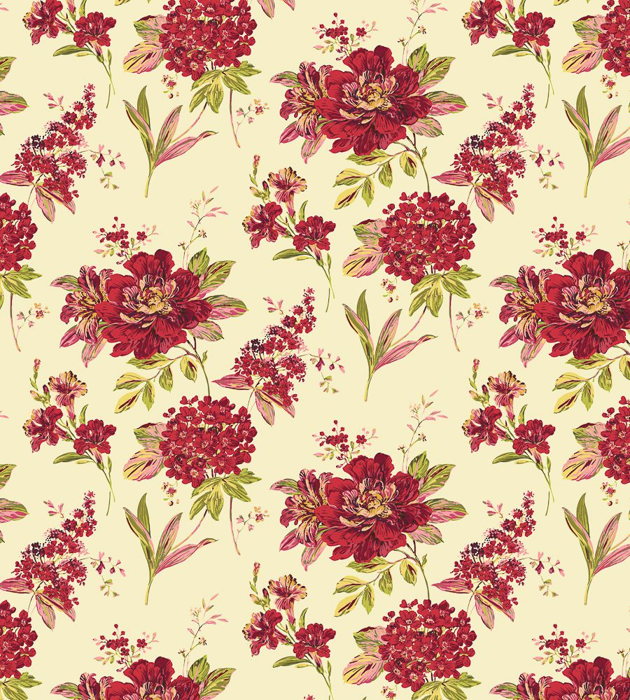 Blendworth Melody Red (005) textil - Paisley Home