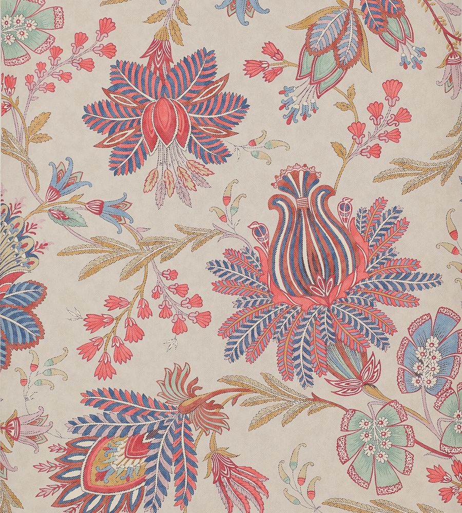 Colefax and Fowler Casimir Red-Blue tapéta - Paisley Home