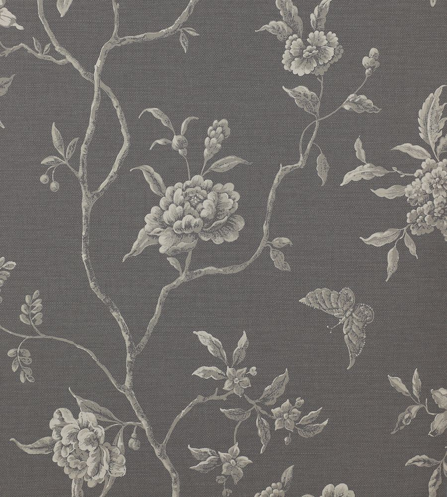 Colefax and Fowler Swedish Tree Charcoal tapéta - Paisley Home
