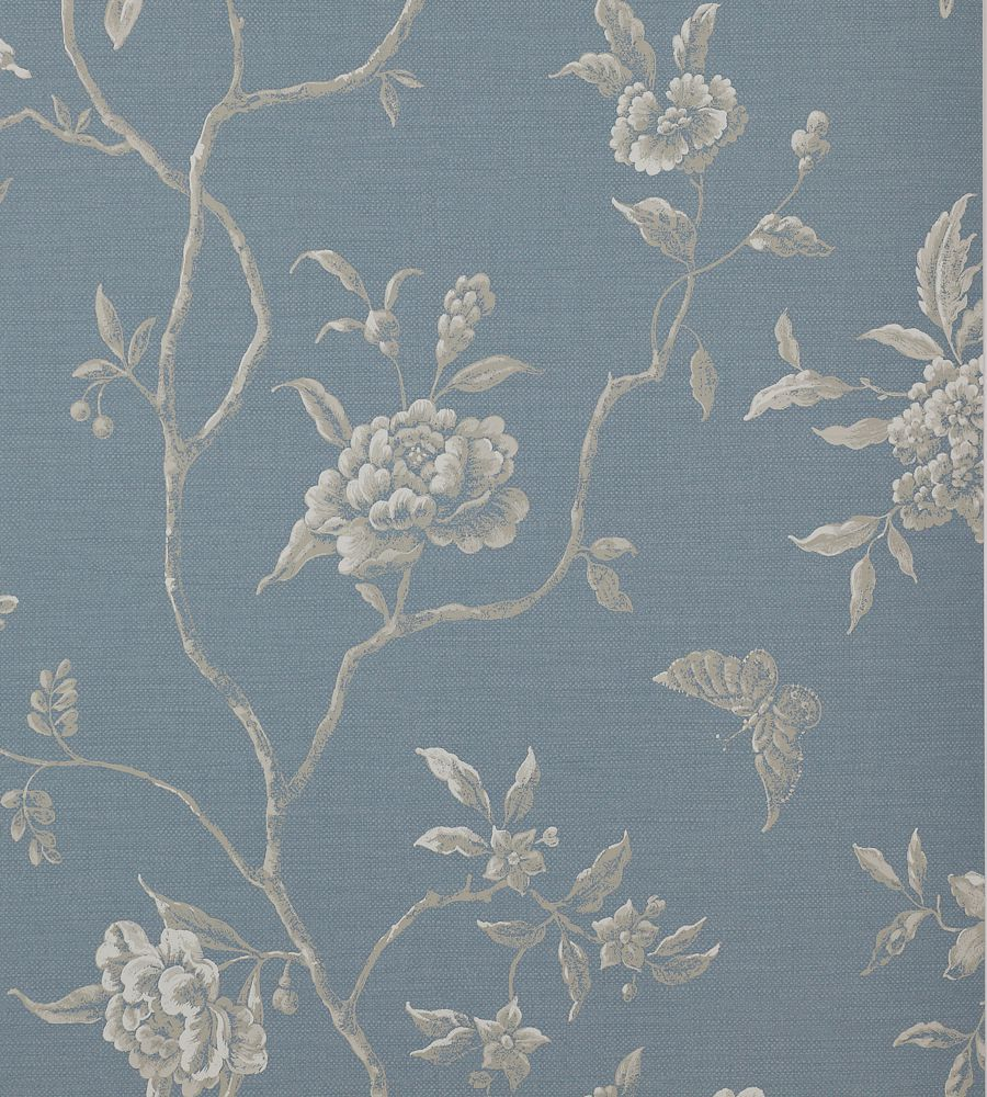 Colefax and Fowler Swedish Tree Navy tapéta - Paisley Home