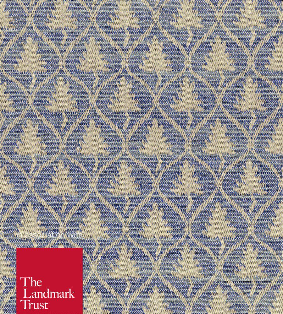 Ian Mankin Cawood Monarch Blue textil