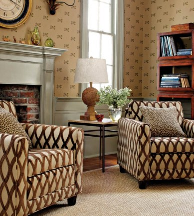Thibaut Bartram Brown 839T6049  tapéta - Paisley Home