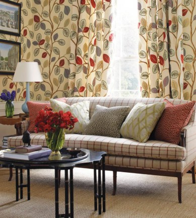 Thibaut Oxfordshire Camel and Red 839T6036  tapéta - Paisley Home