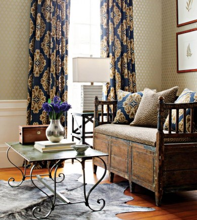 Thibaut Phoebe Metallic on Blue 839T6046  tapéta - Paisley Home