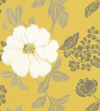 Anna French Rue de Seine Off White on Yellow tapéta - Paisley Home