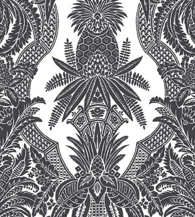 Colony East India Bianco Nero tapéta - Paisley Home
