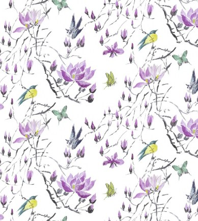Designers Guild Madame Butterfly II Amethyst textil - Paisley Home
