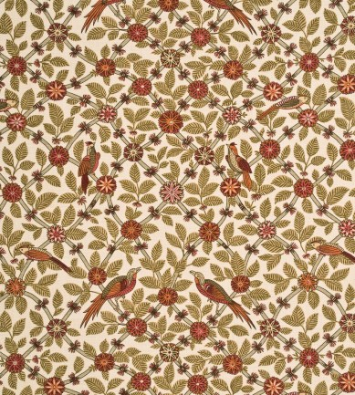 GP and J Baker Bamboo Bird Coral-Biscuit textil - Paisley Home