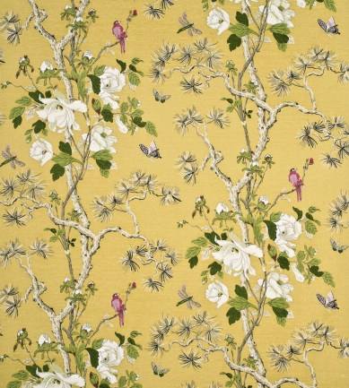 GP and J Baker Tree Peony Strong Yellow-Ivory textil - Paisley Home