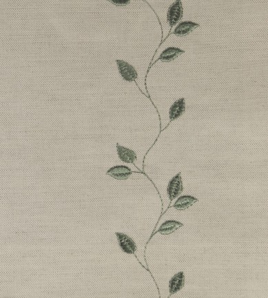 Ian Mankin Embroidered Union Leaf Sage textil - Paisley Home