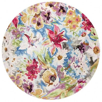 Ligne Pure Blooming Round Floral Multi szőnyeg - Paisley Home