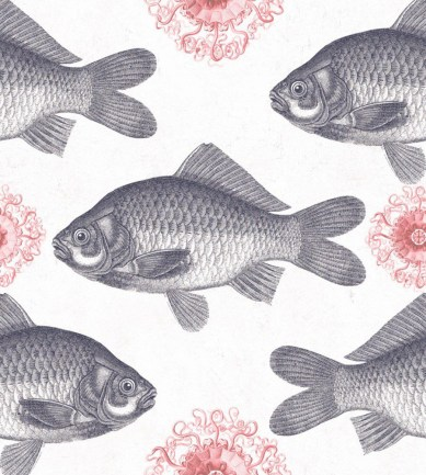 MINDTHEGAP Fish Neutral design tapéta - Paisley Home
