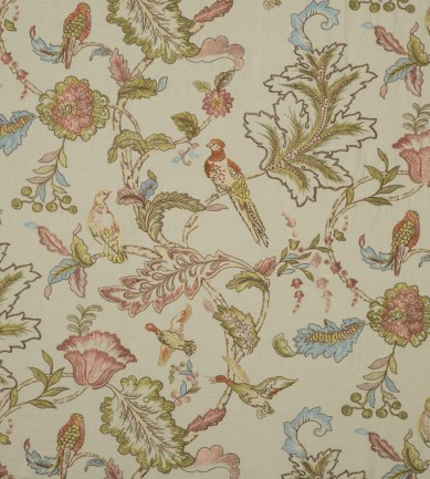Mulberry Home Early Birds Embroidery Natural textil - Paisley Home