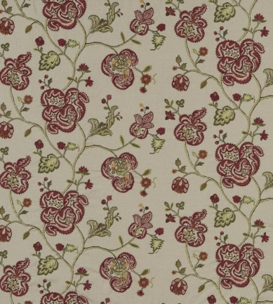 Mulberry Home Montjoy Red-Green-Gold textil - Paisley Home