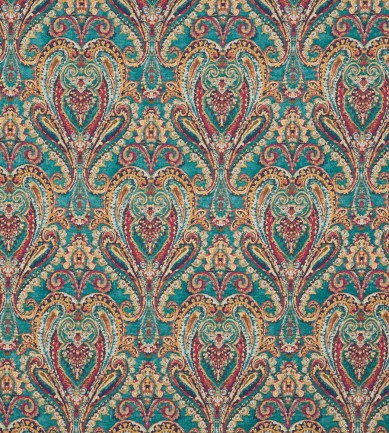 Mulberry Home Bohemian Paisley Teal textil - Paisley Home