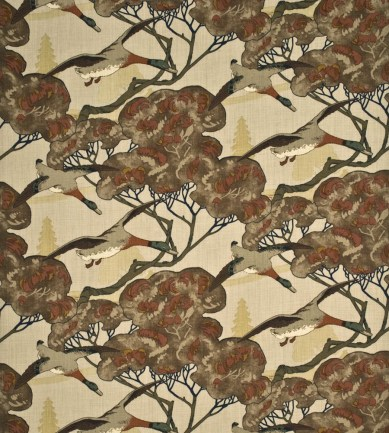 Mulberry Home Flying Ducks Stone-Brown textil - Paisley Home