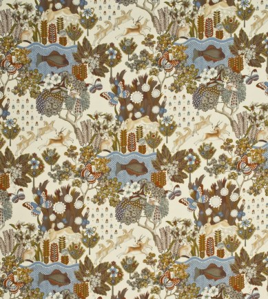 Mulberry Home Glendale Camel-Sky textil - Paisley Home