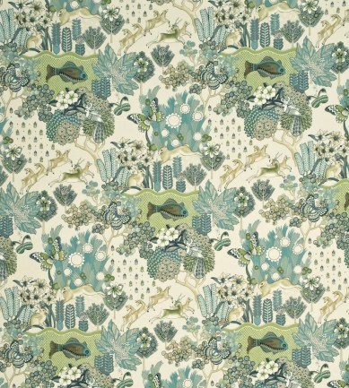 Mulberry Home Glendale Teal-Leaf textil - Paisley Home