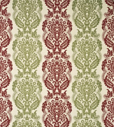 Mulberry Home Staveley Damask Ruby-Olive textil - Paisley Home