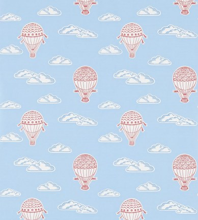 Sanderson Balloons Sky Blue & Red tapéta - Paisley Home