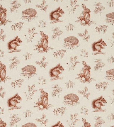 Sanderson Squirrel & Hedgehog Henna/Wheat textil - Paisley Home