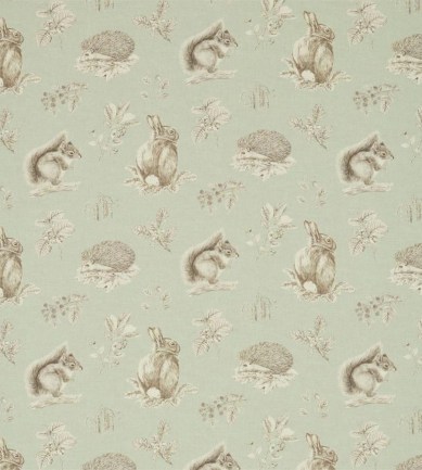 Sanderson Squirrel & Hedgehog Seaspray/Charcoal textil - Paisley Home