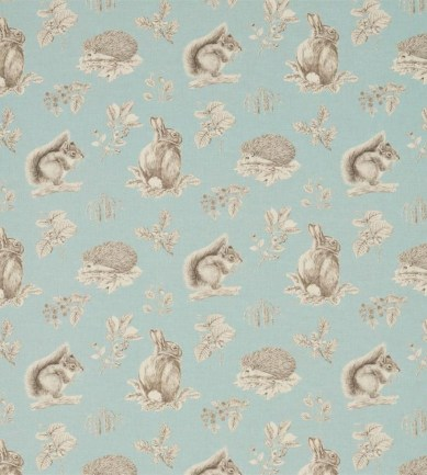 Sanderson Squirrel & Hedgehog Sky Blue/Pebble textil - Paisley Home