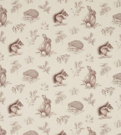 Sanderson Squirrel & Hedgehog Walnut/Linen textil - Paisley Home