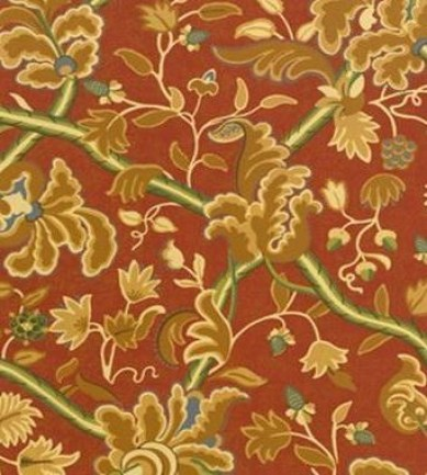 Thibaut Denmark Red and Cream 839T6032  tapéta - Paisley Home