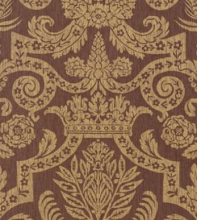 Thibaut Harvard Damask Metallic on Brown 839T6026  tapéta - Paisley Home