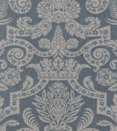Thibaut Harvard Damask Pearl on Slate Blue 839T6029  tapéta - Paisley Home