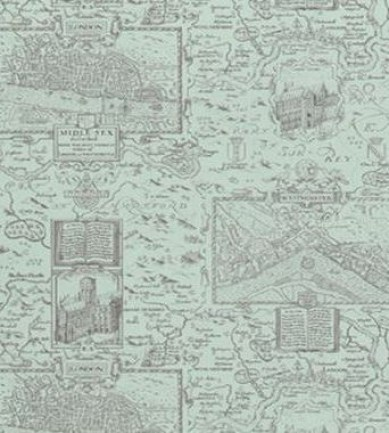 Thibaut London Map Aqua 839T6009  tapéta - Paisley Home