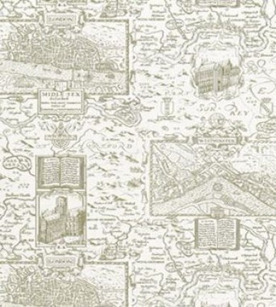 Thibaut London Map Green on Cream 839T6008  tapéta - Paisley Home