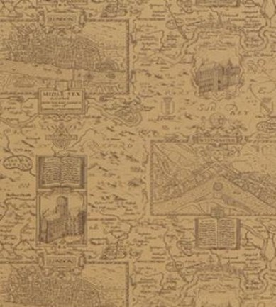Thibaut London Map Tobacco 839T6010  tapéta - Paisley Home