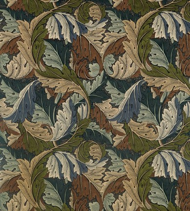 William Morris Acanthus Slate Blue-Thyme textil - Paisley Home