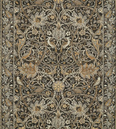 William Morris Bullerswood Charcoal-Mustard textil - Paisley Home