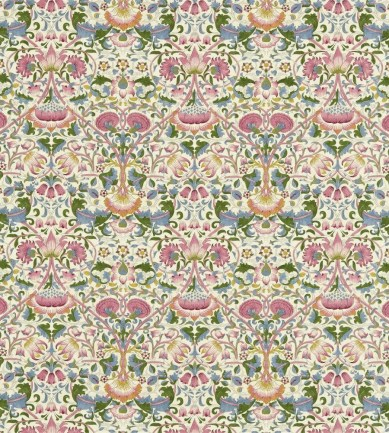 William Morris Lodden Blush/Woad textil - Paisley Home