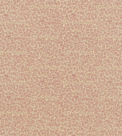 William Morris Love Is Enough Brick/Manilla textil - Paisley Home