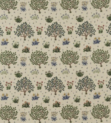 William Morris Orchard Forest/Indigo textil - Paisley Home