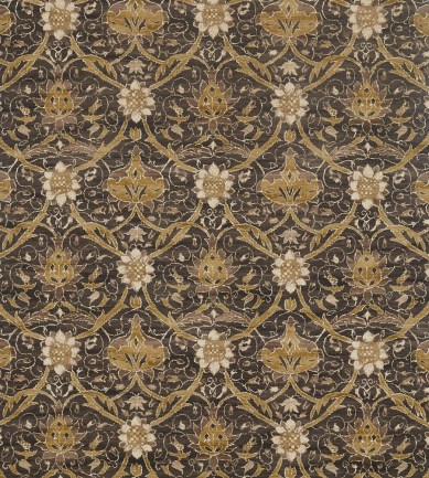 William Morris Montreal Charcoal-Mustard textil - Paisley Home