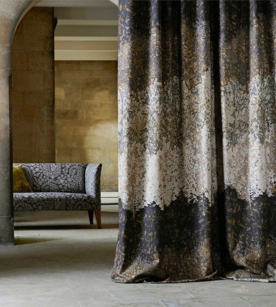 Zoffany Belvoir Blue-Amber textil - Paisley Home