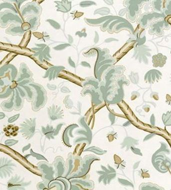 Thibaut Denmark Aqua on Cream 839T6030  tapéta - Paisley Home