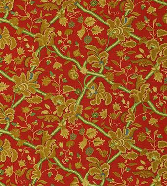 Thibaut Denmark Red and Cream F96032  textil - Paisley Home