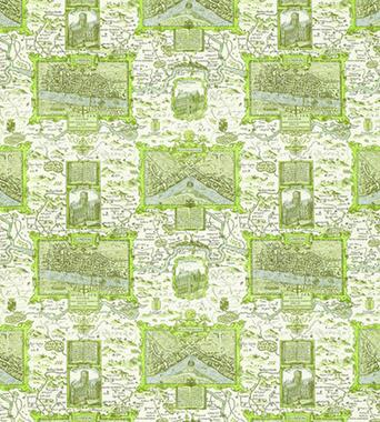 Thibaut London Map Green F96008  textil - Paisley Home