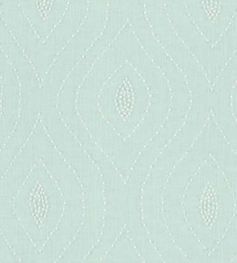 Thibaut Balboa Dots Embroidery White on Robins Egg W75701  textil - Paisley Home
