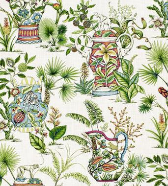 Thibaut Tropical Fantasy Cream F95768  textil - Paisley Home