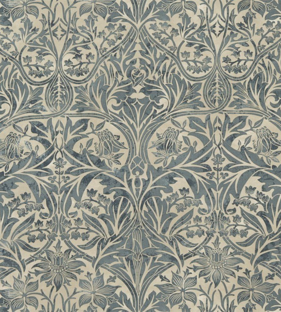 William Morris Bluebell Sea Green/Vellum textil - Paisley Home