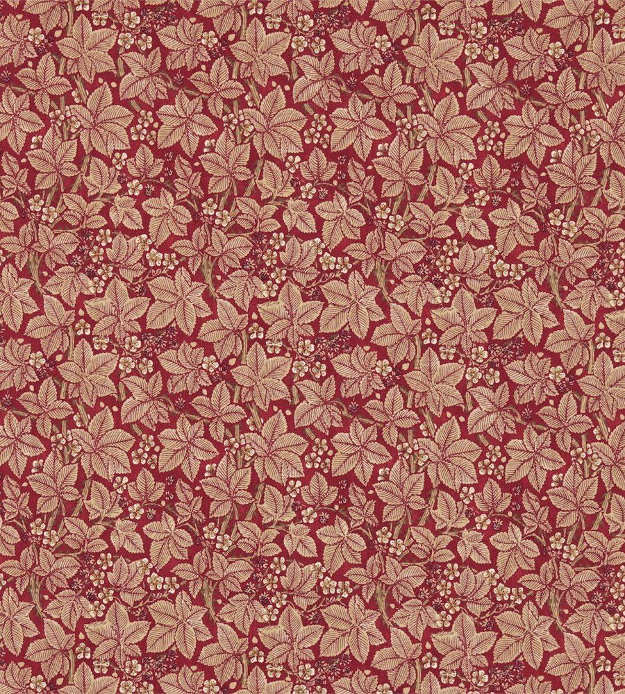 William Morris Bramble Wine/Thyme textil - Paisley Home